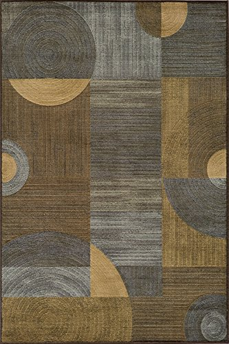 Momeni Rugs DREAMDR-01BRN2030 Dream Collection, Contemporary Area Rug, 2' x 3', (Dream Brown Geometric Rug)