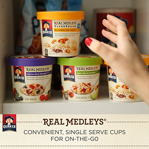 030000315507 - Quaker Real Medleys Oatmeal+, Apple Walnut, Instant Oatmeal+ Breakfast Cereal, (Pack of 12) carousel main 5