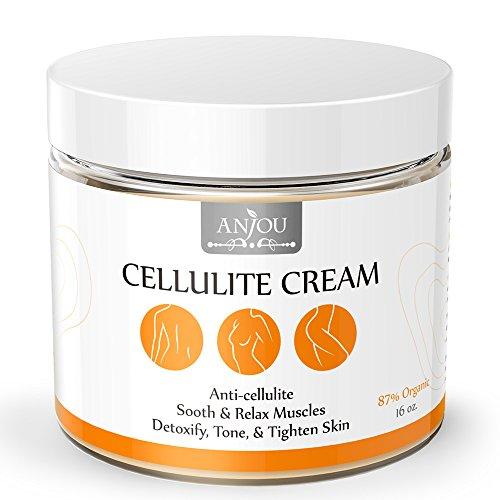 Anjou Cellulite crème 16 oz avec L-Carnitine (anticellulite, Relaxation musculaire pour le Yoga, raffermissant et tonifiant Gel, chaude crème, plus de 15 huiles essentielles, 87 % organique)