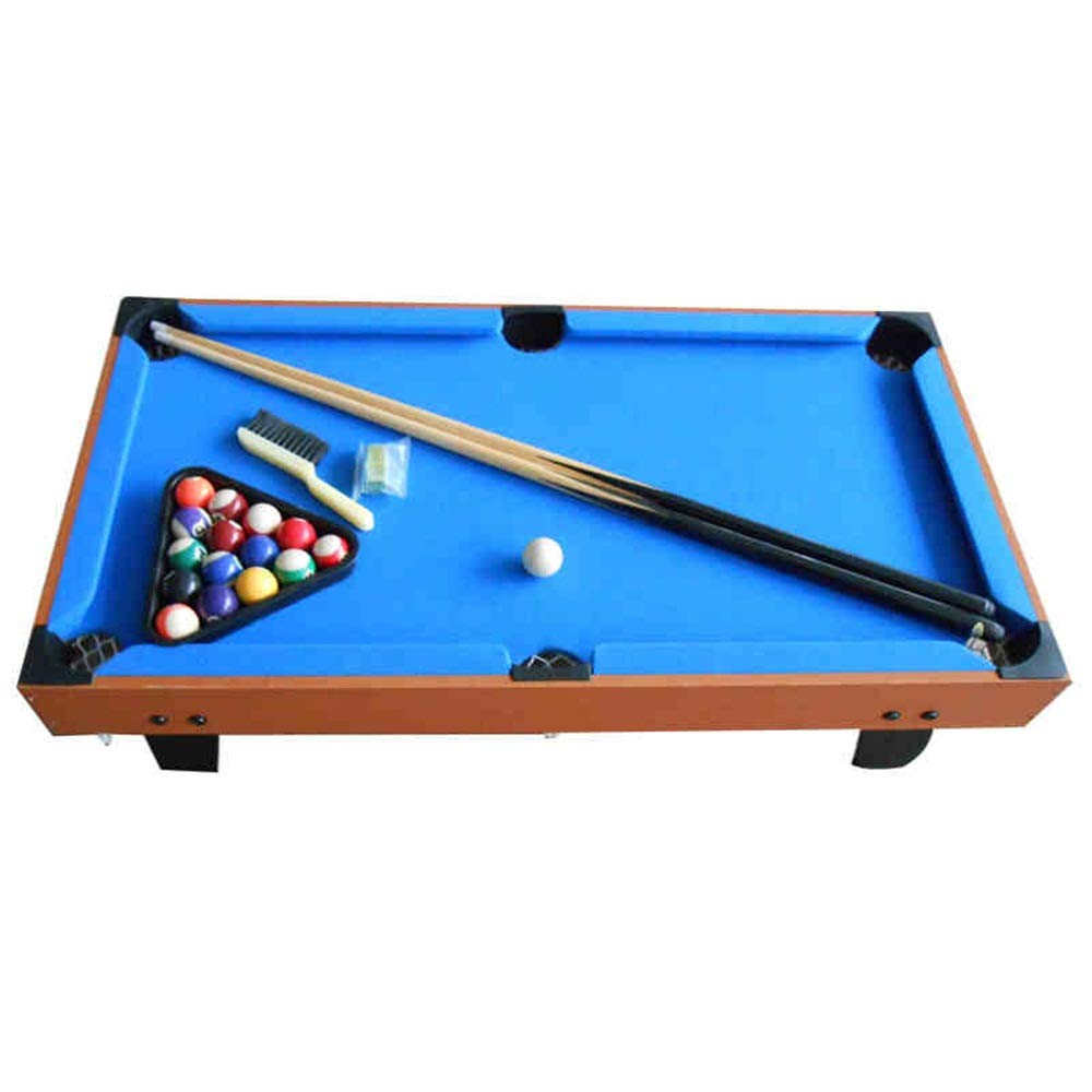 Foosball Table Mini Tabletop Billiard Game Accessories Soccer Tabletops Competition Games Sports Games (Color : Blue, Size : 91x50.8x20cm) by TAESOUW-Sports