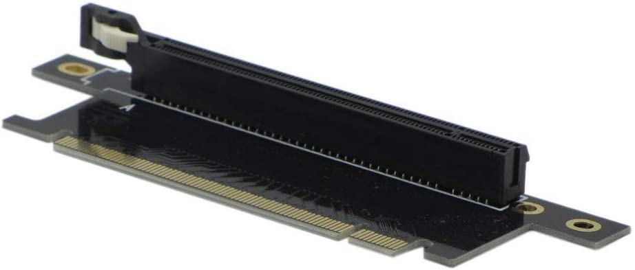 JXSZ PCI-Express 16x Right-Facing 90-Degree Right-Angle 16x Reverse Right Slot Riser Adapter 4cm