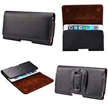 Kingsource (TM) Apple iPhone 6/Apple iPhone 6S 4.7 inches Genuine Leather Pouch Case with Belt Clip Holster fit iPhone 6 WITH OTTER BOX Defender/LIFEPROOF / Mophie Juice Pack Air/Spigen Armor/UAG case on (Apple iPhone 6 4.7 inches black)