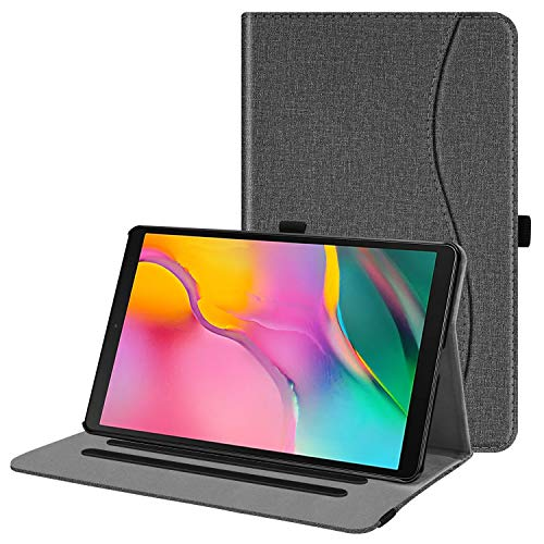 Fintie Case for Samsung Galaxy Tab A 10.1 2019 Model SM-T510(Wi-Fi) SM-T515(LTE) SM-T517(Sprint), Multi-Angle Viewing Stand Cover with Pocket, Gray