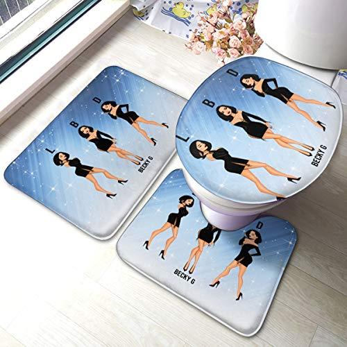 RegGaineyina Becky G LBD 3-Piece Bathroom Rug Set,Comfortable Bathroom Decor,Bathroom Rug and Mat Set