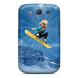 Fashionable Style Case Cover Skin For Galaxy S3- Ed Hardy Snowboarding