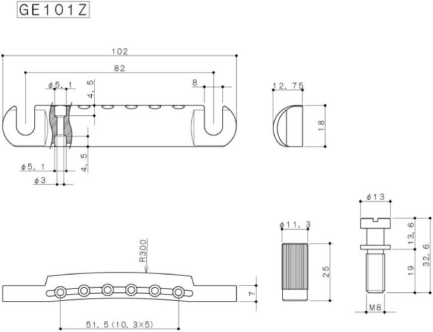 Retro Parts RP398B Plastic End Pins Black