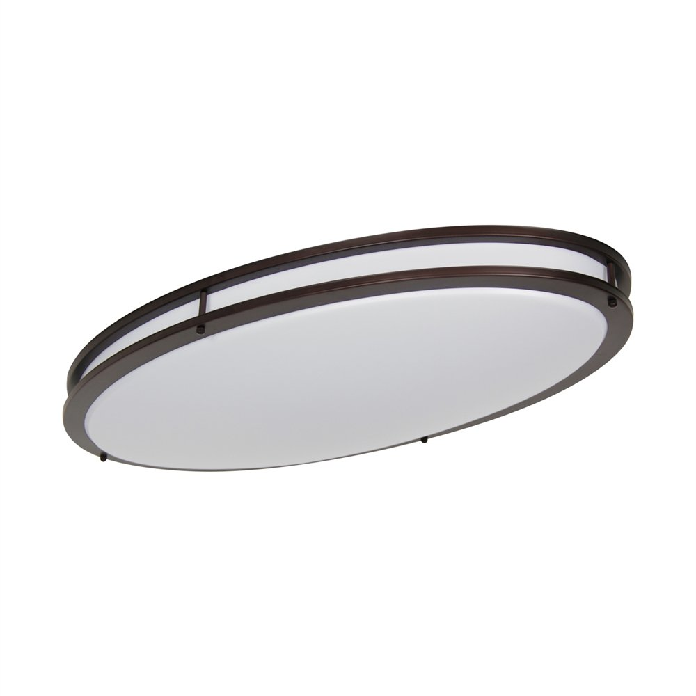 LB72134 LED Flush Mount Ceiling Lighting Oval, Oil Rubbed Bronze, 32-Inch, 35W, 250W Equivalent, 3000K Warm White, 2800 Lumens, ETL & DLC Listed, ENERGY STAR, Dimmable