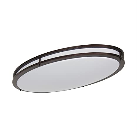 sale retailer 6a0de 9fce5 LB72135 LED Flush Mount Ceiling Lighting Oval, Oil Rubbed Bronze, 32-Inch,  35W, 200W Equivalent, 4000K Cool White, 2800 Lumens, ETL & DLC Listed, ...
