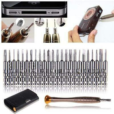 FidgetGear 25Pcs Mini Screwdriver Set Hand Tool Repair Kit for Eyeglasses Laptop Phone Tool ()