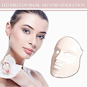 [FDA approved] Second generation Rika 3 color LED facial Mask Red Blue Green Light therapy skin rejuvenation