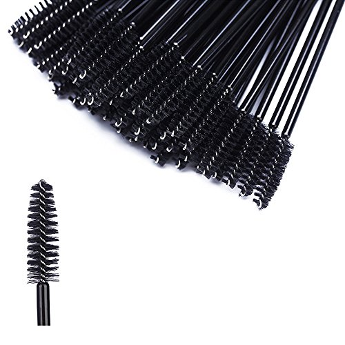 Btyms 100 pcs disposable eyelash mascara applicator wand for Mascara with comb wand