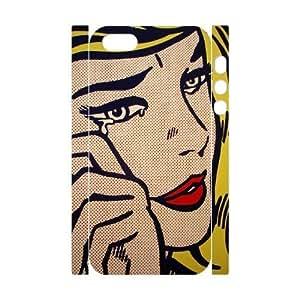 DIY High Quality Case for Iphone 5,5S 3D, Art Design Of Girl Phone Case - HL-R675004