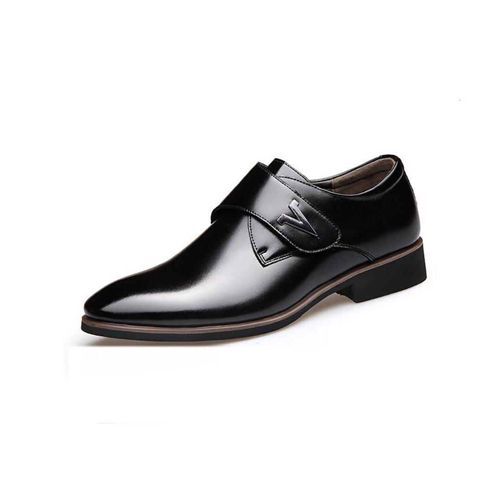 GFP Herrenschuhe, Frühling Herbst Leder Business-Schuhe, Formale Hochzeit Schuhe, Low-Top-Comfort Driving Schuhe Schwarz, Braun