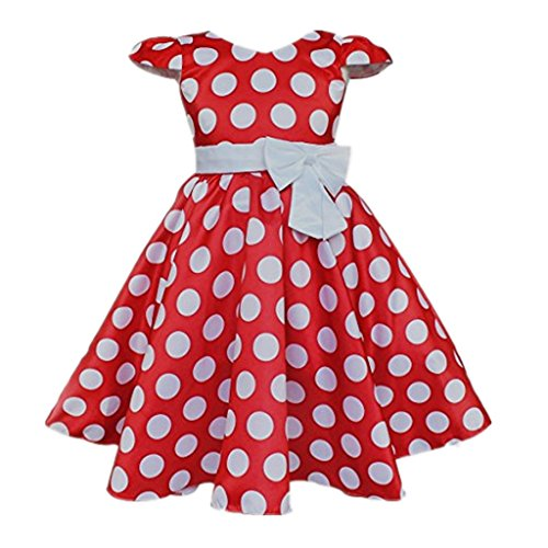 DreamHigh-Toddlers-Polka-Dot-Skirt-Cap-Sleeves-Flowers-Girl-Vintage-Bow-Dress