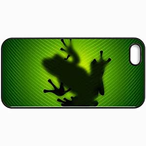 Personalized Protective Hardshell Back Hardcover For iPhone 5/5S, Frog Design In Black Case Color