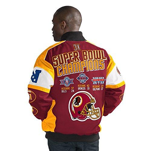 (Licensed Sports Apparel Washington Football Redskins Super Bowl Cotton Twill Commemorative Jacket - L)