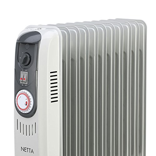 Netta 2500w Oil Filled Electric Heater Radiator With