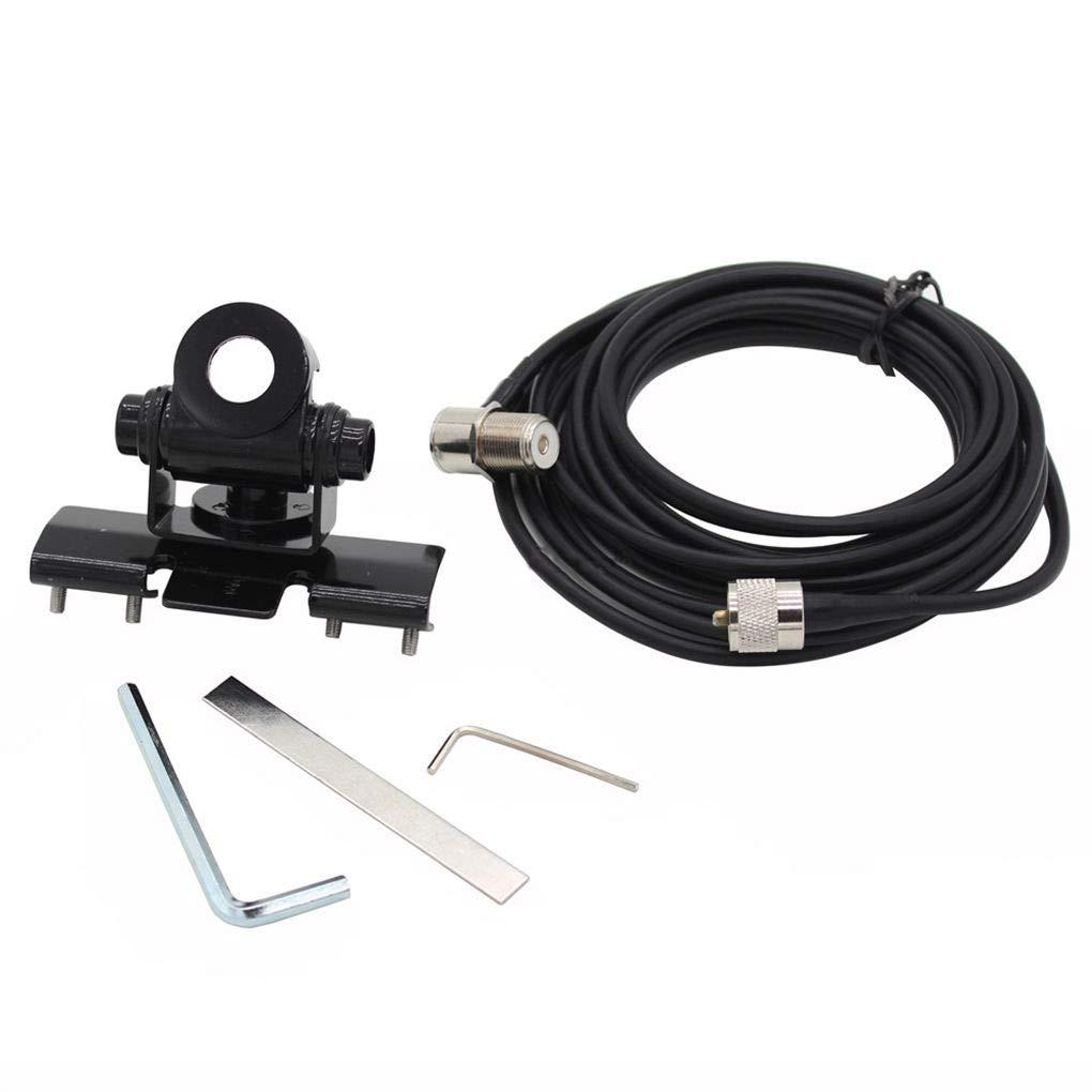 5M PL259 Conector Extender reemplazo del Cable Cable de alimentaci/ón para la Radio m/óvil Morza RB-400 Antena de Coche Soporte de Montaje