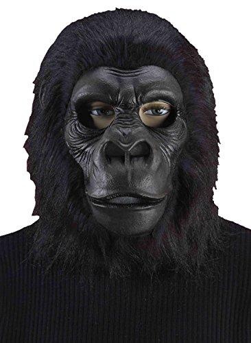 Forum Novelties Men's Latex Gorilla Mask, Black, One Size