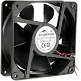 uxcell 120mm x 38mm 24V DC 12cm Industrial Cooling Fan 115 CFM High Airflow Long Life Sleeve Bearing
