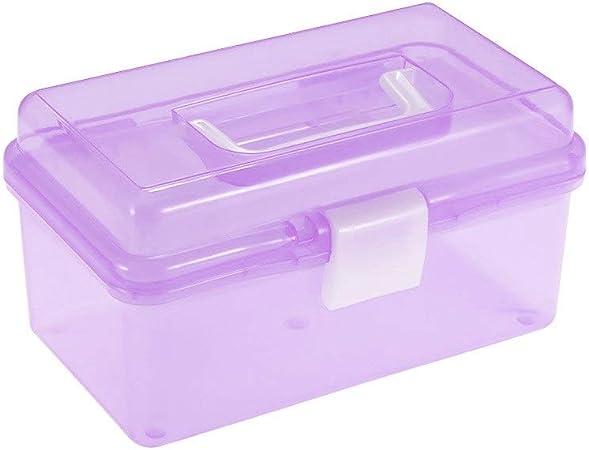 Apilable Plástico Transparente Caja de Almacenamiento de Arte Suministros de Pintura Estuche de usos múltiples con asa para Artistas Estudiantes Herramientas de Medicina Cosméticos Tapa: Amazon.es: Hogar