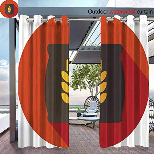 (QianHe Balcony Curtains Sack-of-Grain-Flat-icon-with-Long-Shadow.jpg Outdoor Patio Curtains Waterproof with Grommets W96 x L96(245cm x 245cm))