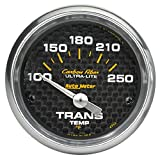 "Auto Meter 4757 Carbon Fiber 2-1/16"" 100-250 F Short Sweep Electric Transmission Temperature Gauge"