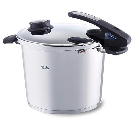 Fissler Vitavit Edition Design Olla a presión, 26 cm, Para todo tipo de cocinas, 10 litros, Acero Inoxidable, Plateado
