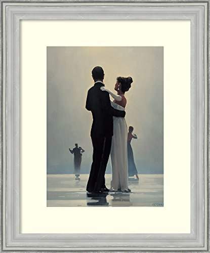 Framed Art Print 'Dance Me to the End of Love' by Jack Vettriano: Outer Size 19 x 23 by Amanti Art