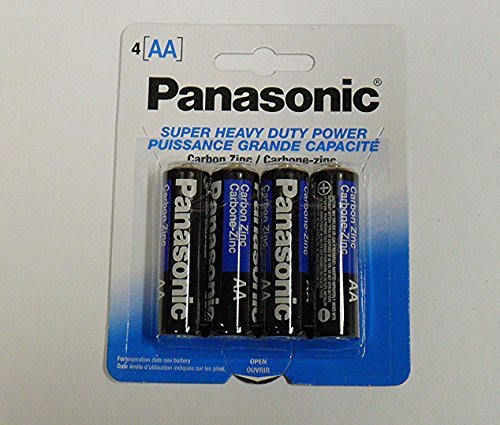 Panasonic AA Heavy Duty Batteries 16 Count, 4x4 Packs, Exp. Date 2019, Retail Packaging