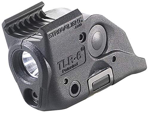 Streamlight 69293 TLR-6 Tactical Pistol Mount Flashlight 100 Lumen with Integrated Red Aiming Laser Only for M&P Railed Hand Guns, Black - 100 Lumens