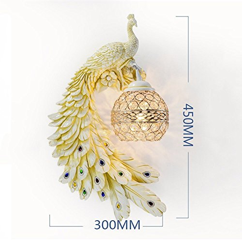 HOMEE Wall lamp- european creative crystal wall lamp living room backdrop wall lamp bedroom modern bedside aisle stairs wall lamp (style optional) --wall lighting decorations,E by HOMEE