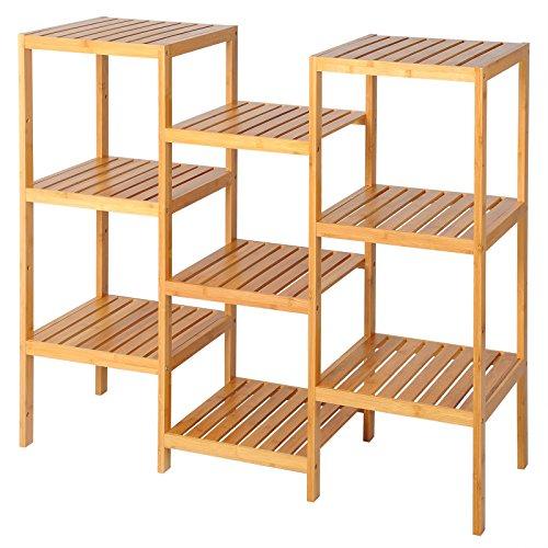 SITU 9-Tier Bamboo Shelving Unit Adjustable Utility Shelf Ba
