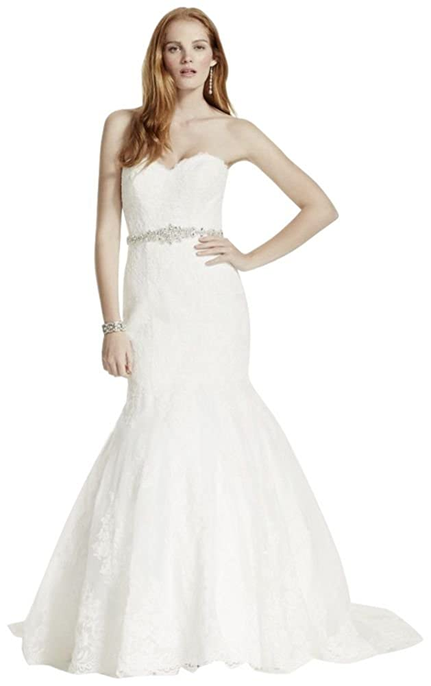 Petite Strapless Wedding Dress With Beaded Sash Style 7v3680 At