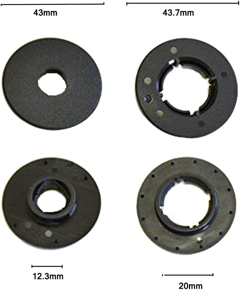 Set of 4 Clips JIFFYY Car Round Floor Mat Clips for Ford