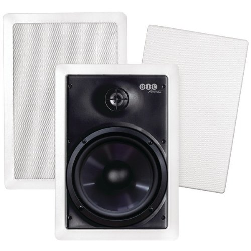 "BIC America 6.5"" 2-Way In-Wall Speakers (Pair) White M-PRO6W"