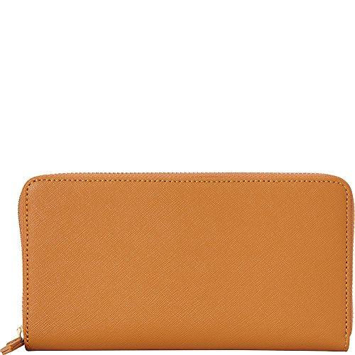 (Samsonite Zip Around Leather Wallet (Cognac))