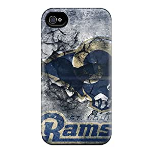Iphone 4/4s Qan5471FVvx Support Personal Customs HD St. Louis Rams Pattern Perfect Hard Phone Case -JohnPrimeauMaurice
