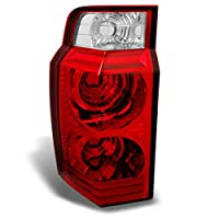 Jeep Commander SUV Red Clear Rear Tail Light Brake Lamp Taillamp Repalcement Dirver Left Side