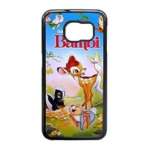 Samsung Galaxy S6 Edge case , Bambi Cell phone case Black for Samsung Galaxy S6 Edge - LLKK0720352