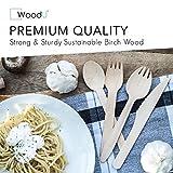 WoodU Elegant Wooden Disposable Cutlery Set