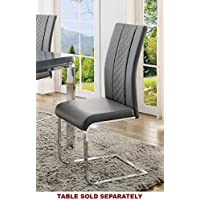 Miami Side Chair in Grey Bi-Cast Vinyl [Set of 2]
