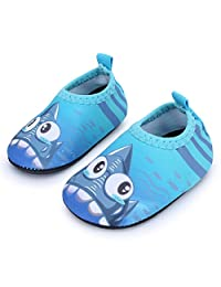 JIASUQI Baby Swim Water Shoes Boy's Girl's Aqua Skin Socks Quick-Dry Footware for Beach Swim Pool