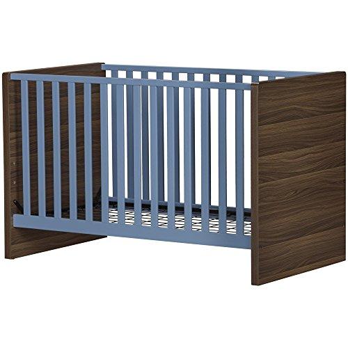 Ridge Terra Crib, Blue/Walnut ()