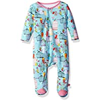 Zutano Baby Girls' Cotton Footie Bodysuit, Paradise Bird, 6M (3-6 Months)