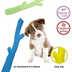 Gnawbbers Flex Stik Floating Flexible Fetch Dog Toy, Assorted Colors