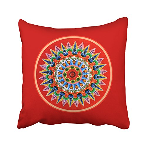 (Decorativepillows 20 x 20 inch Throw Pillow Covers,Costa Rican Art Pattern Double-Sided Decorative Home Decor Indoor/Outdoor Garden Sofa Bedroom Car Kitchen Nice Gift)