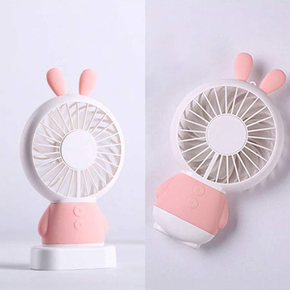 Pink Bear Colorful LED Light Bear/Rabbit Portable Cooling Fan ...