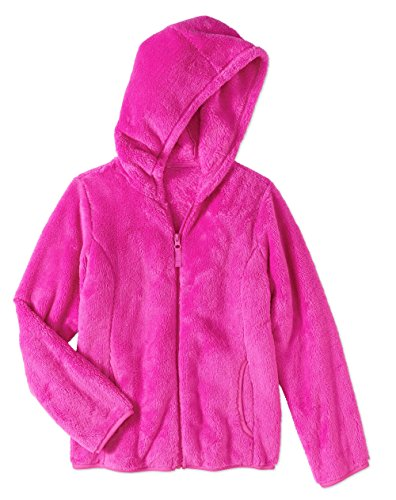 Electric Pink Plush Pullover Hoodie (Large 10/12)