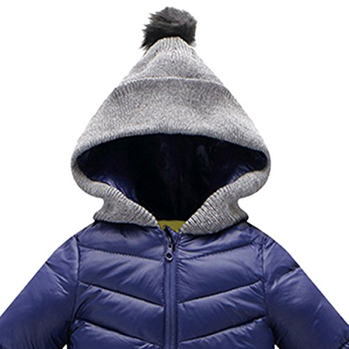 Coat Thick Blue Outerwear Hooded Cherry Jumpsuit Infant Winter Newborn Baby Snowsuit Happy Romper wxgf1qPBf